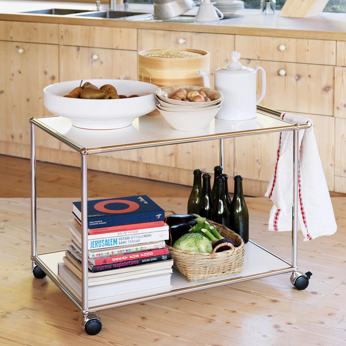 servierwagen von usm haller connox. Black Bedroom Furniture Sets. Home Design Ideas