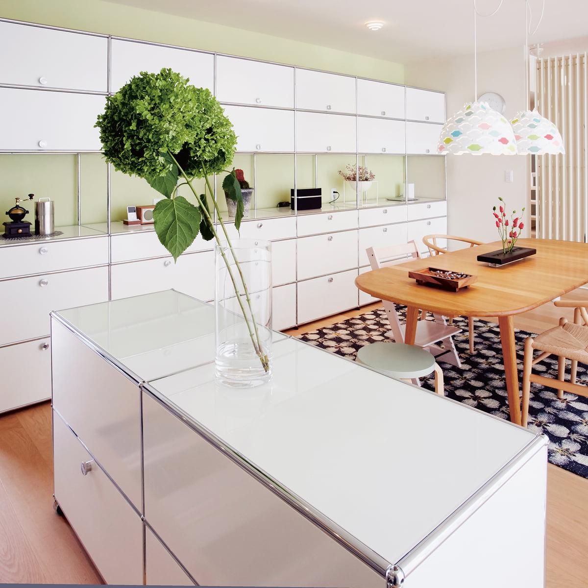 2 f cher sideboard von usm haller connox. Black Bedroom Furniture Sets. Home Design Ideas