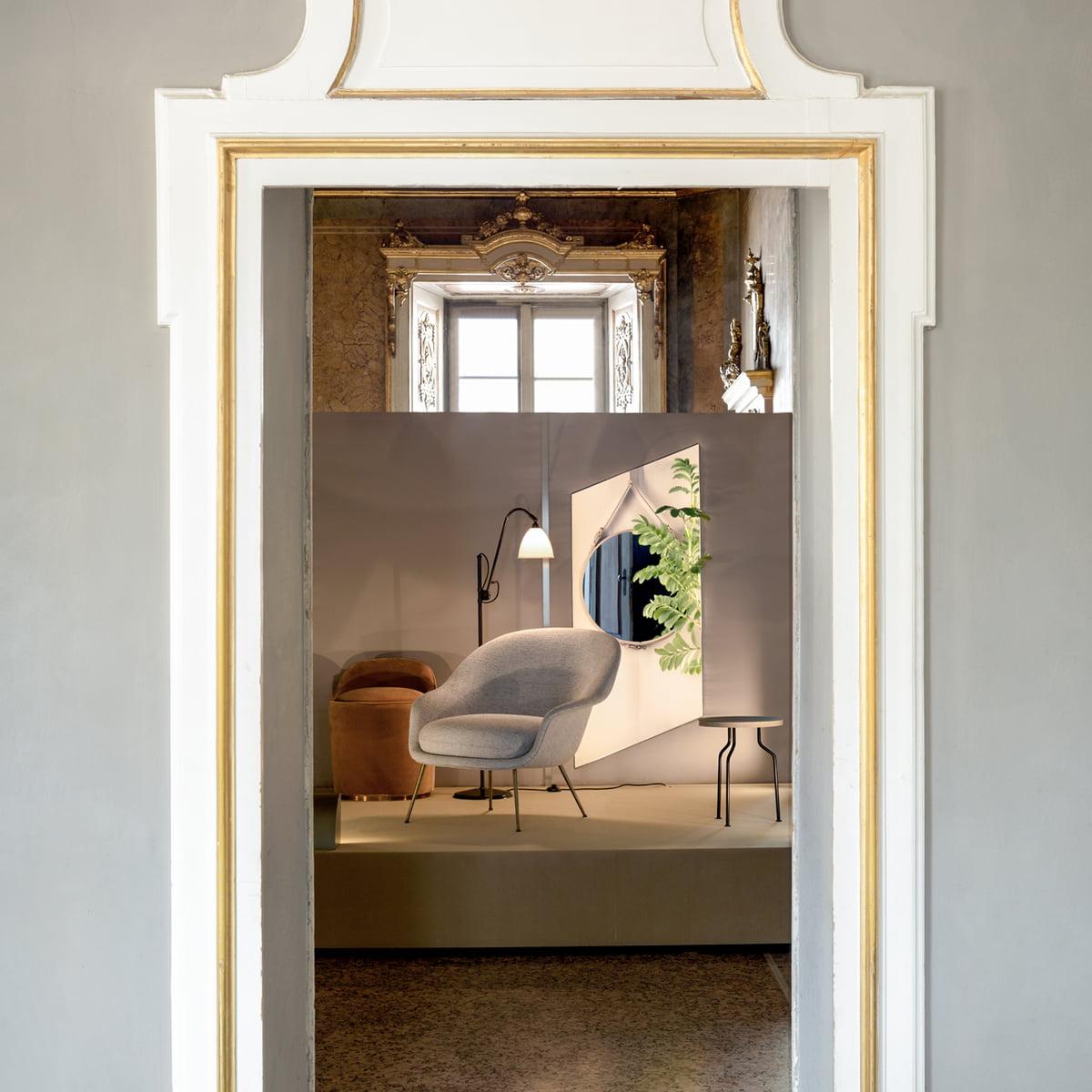 Bat Lounge Chair Metallgestell Von Gubi Connox