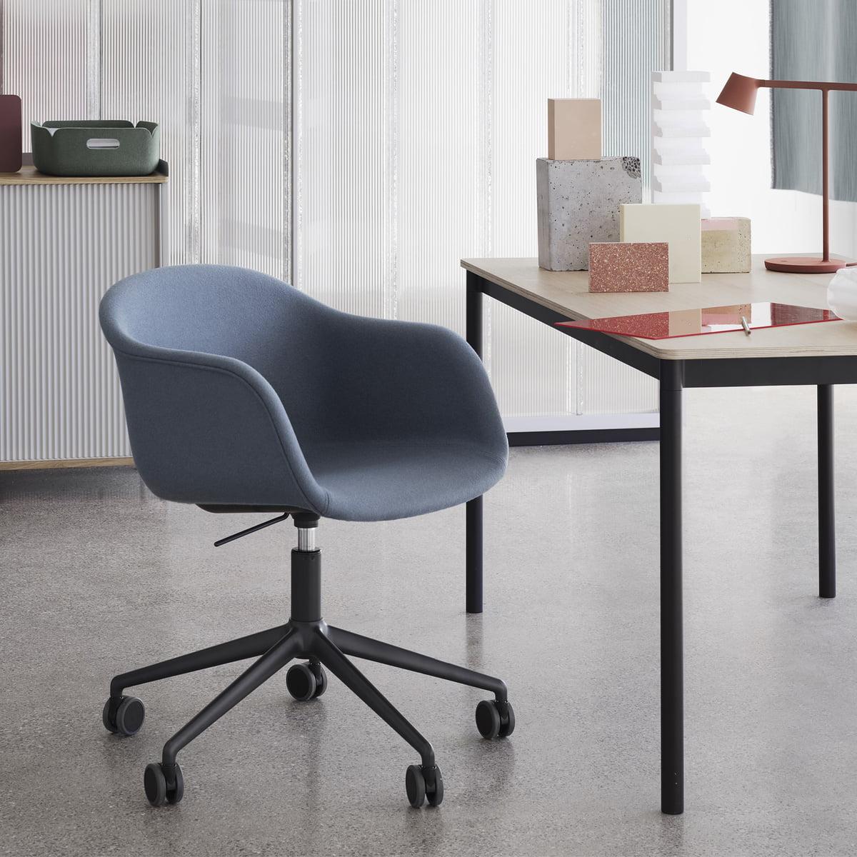 Fiber Büro-Armlehnstuhl Swivel Base von Muuto   Connox