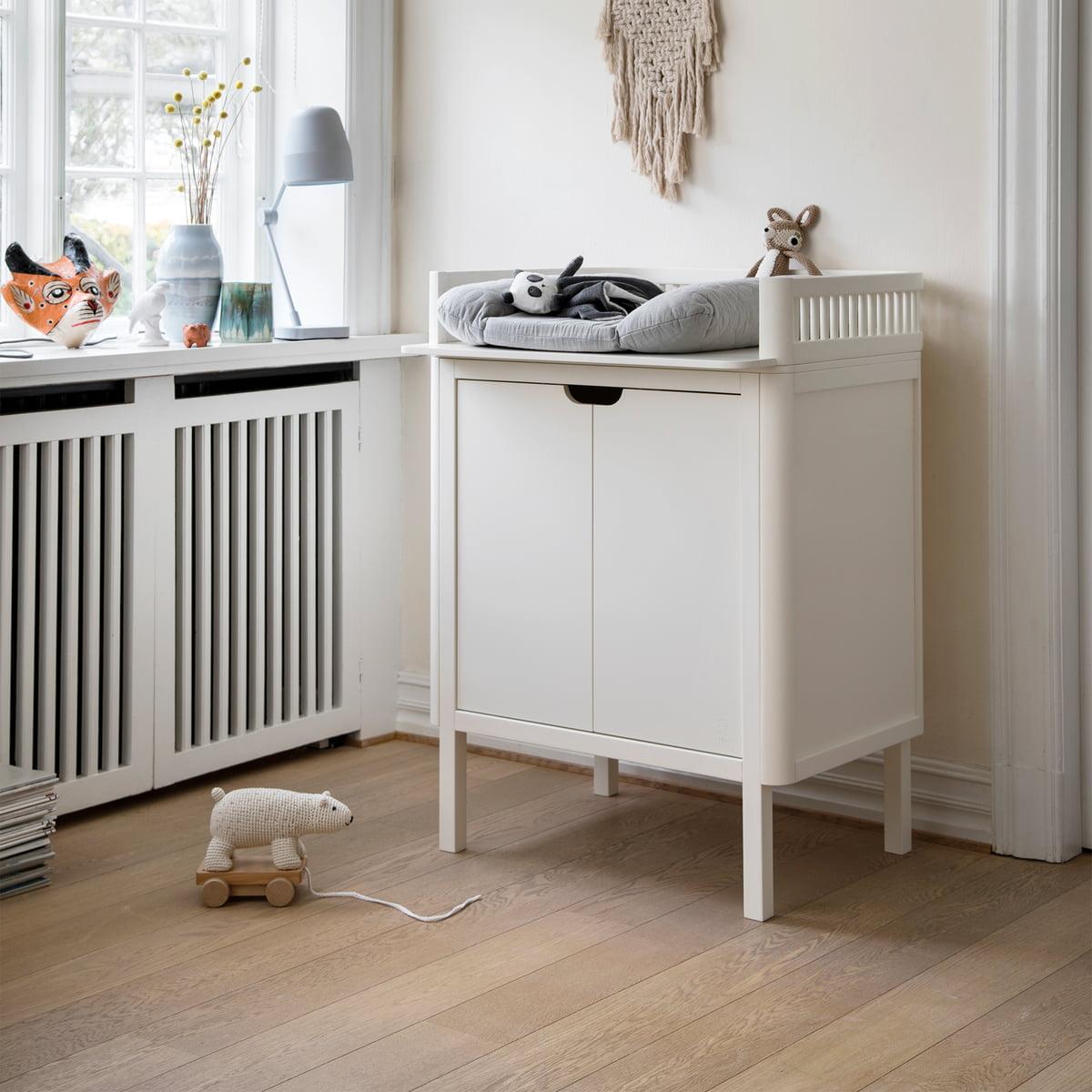 Sebra - Wickelkommode mit Türen, classic white