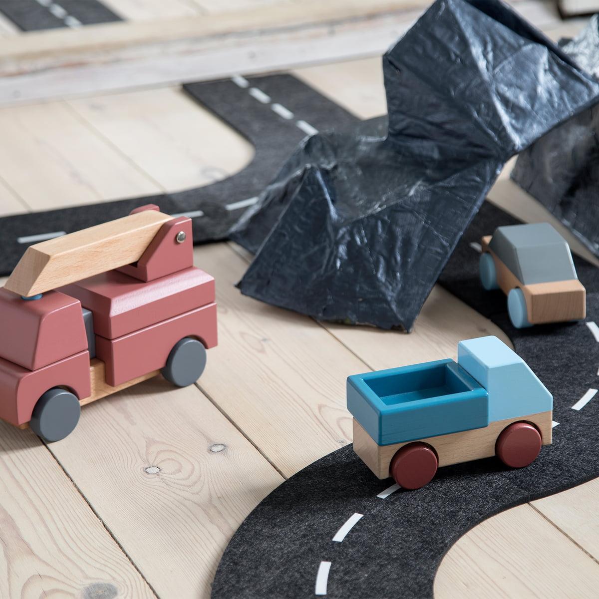Fahrbahn & 2 Spielzeug Autos von sebra kaufen