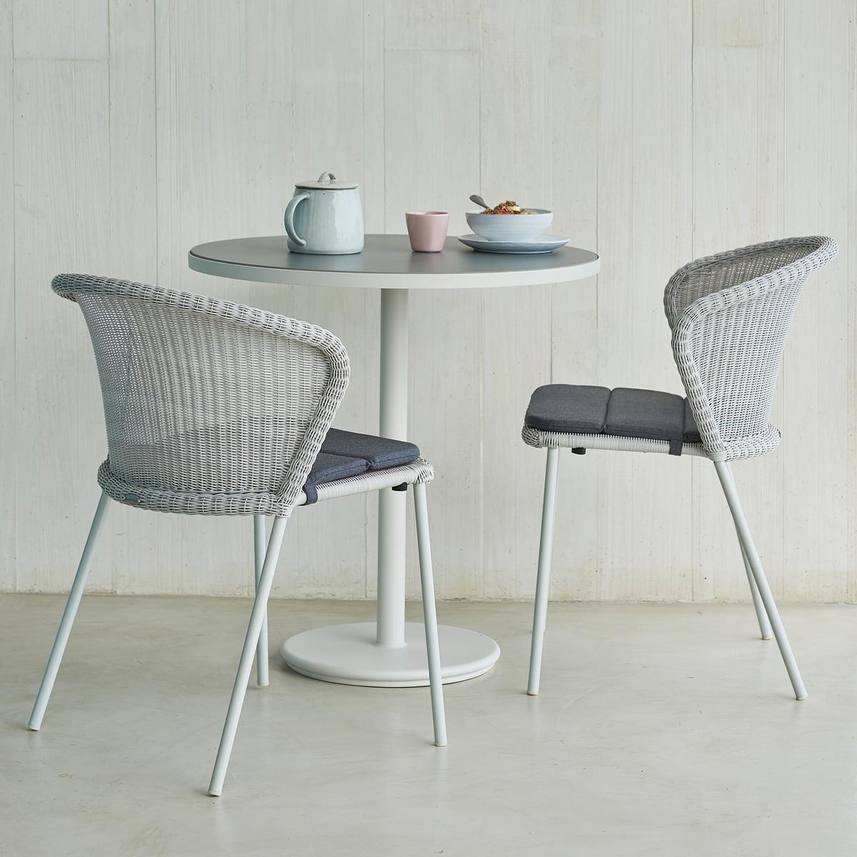 Cane line Lean Stuhl (5410), weiß grau