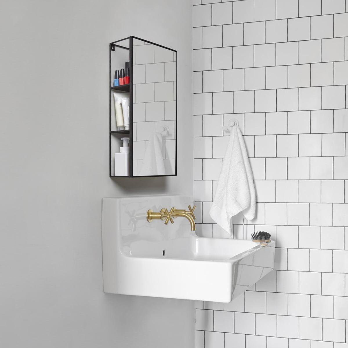 Umbra - Cubiko Spiegel Regal, schwarz