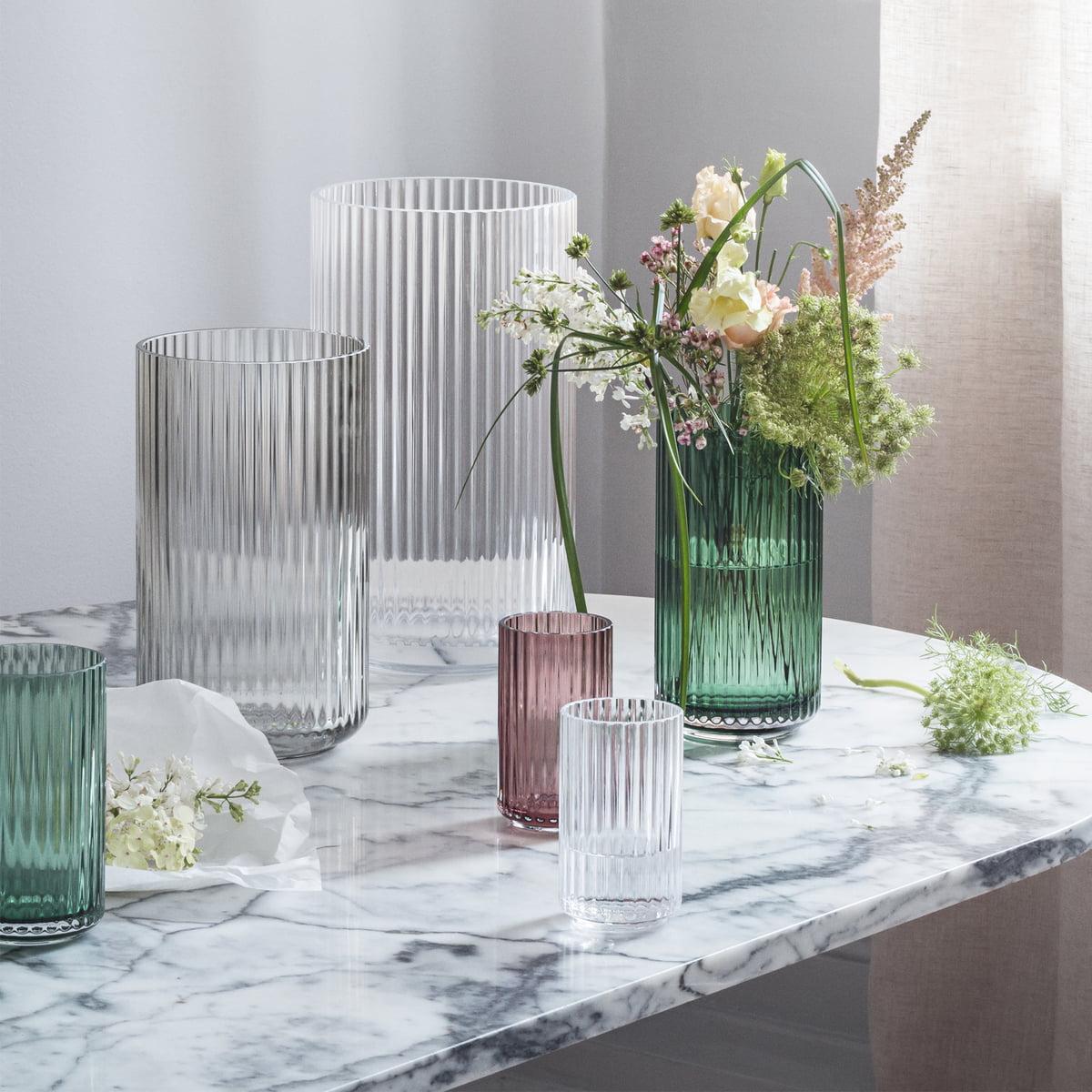 Lyngby Porcelæn Glasvase H 12 Cm Transparent
