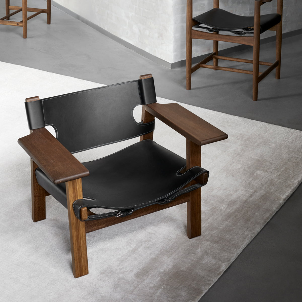 Fredericia Spanish Chair Eiche Geolt Leder Cognac
