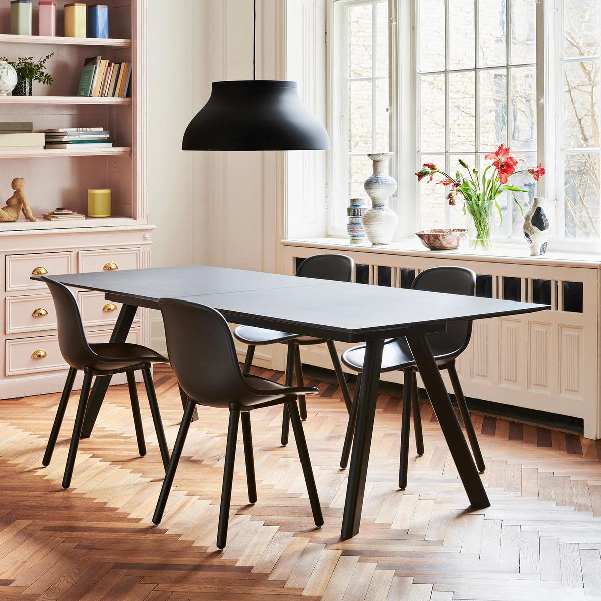 ausziehbarer esstisch mit stühlen