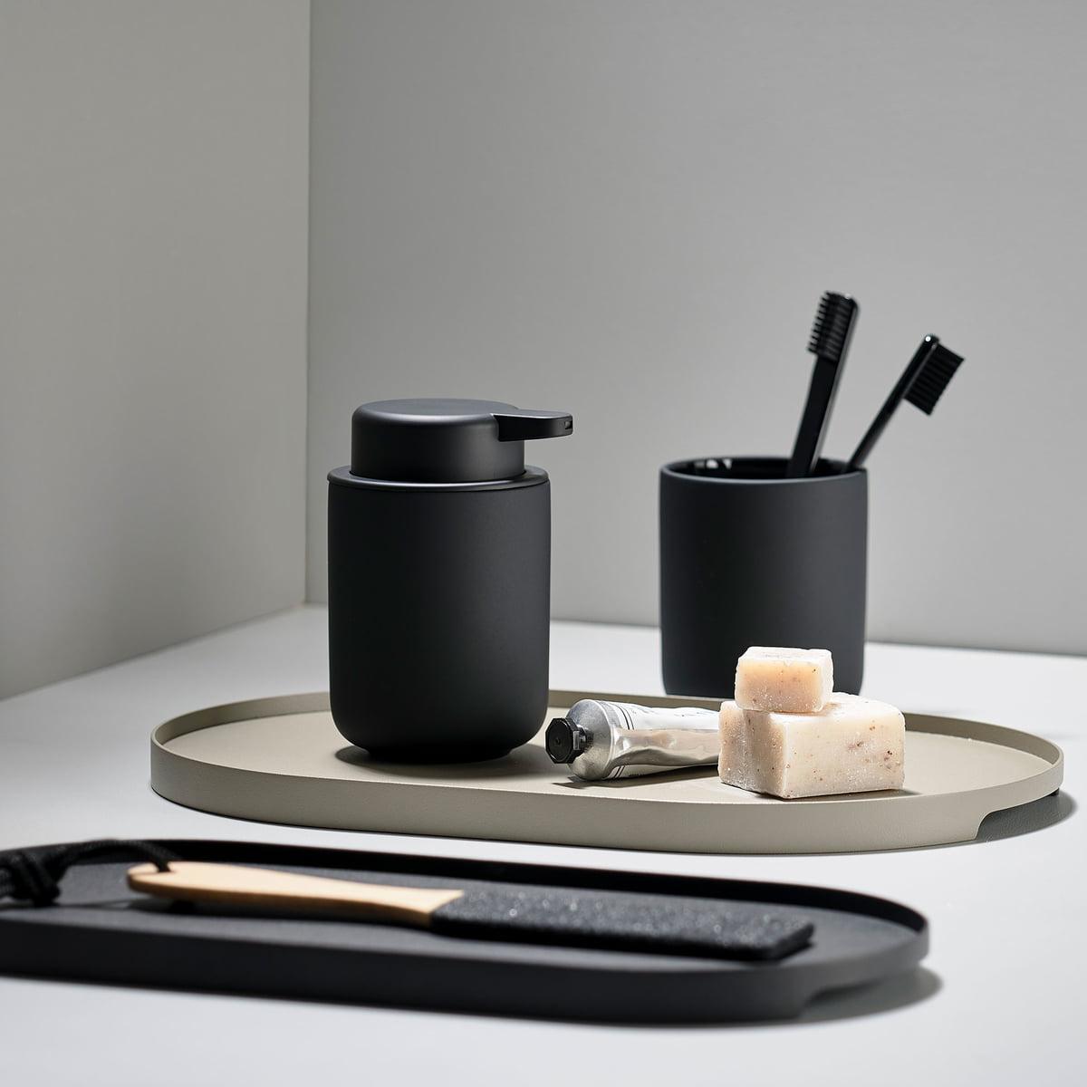 Zone Denmark - Singles Metall-Tablett oval, 11 x 11 cm, schwarz