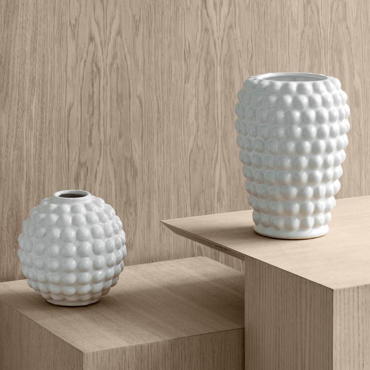 Broste Copenhagen   Dotty Vase S, Ø 20 x H 20 cm, tea green