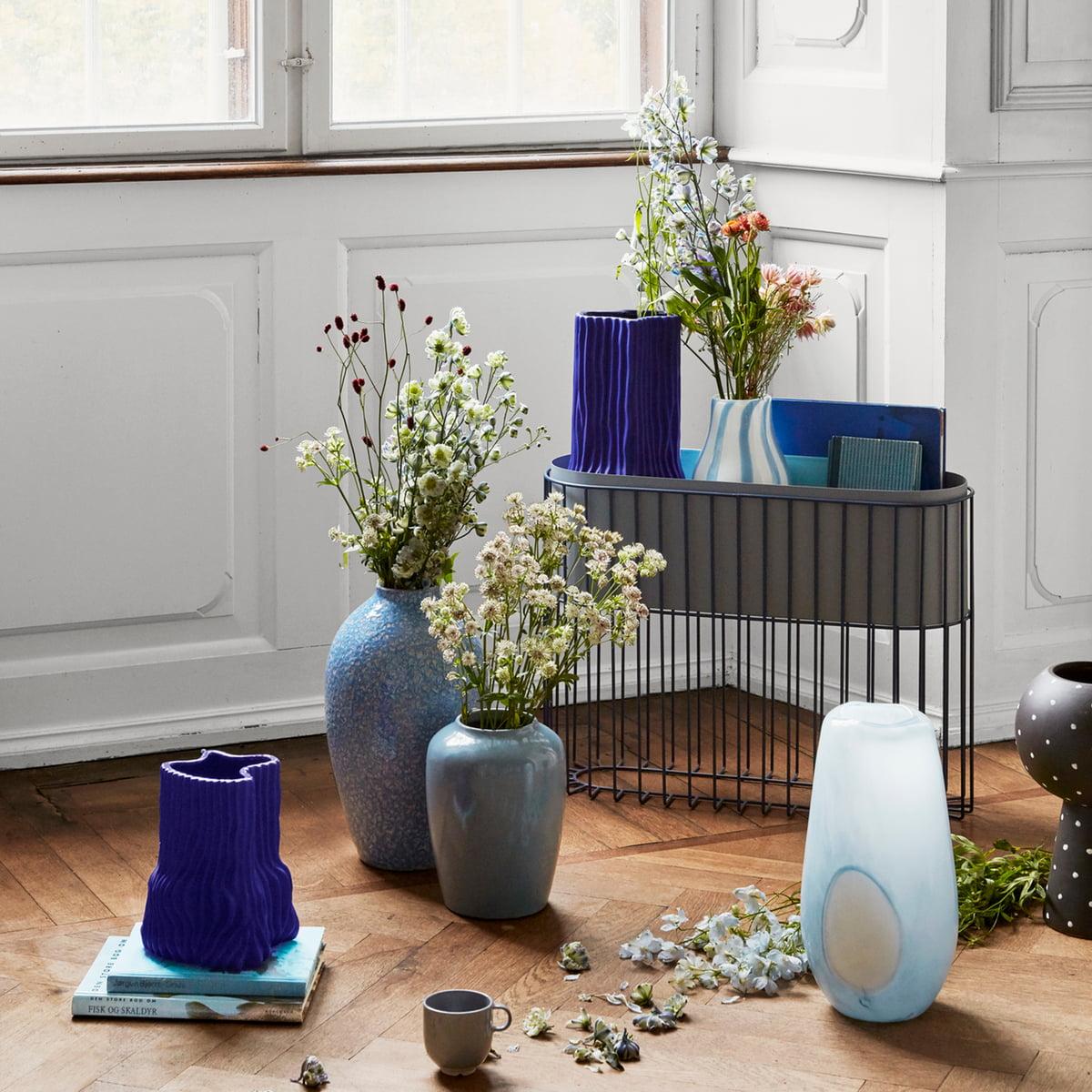 Broste Copenhagen   Magny Vase, H 20,20 cm, dunkelblau