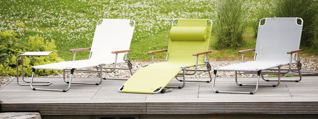 Italienisches Design von Fiam: hochwertige Gartenmöbel wie die Amigo Liege. Der Liegestuhl ist in verschiedenen Farben erhältlich und ein Hingucker für Ihren Garten.