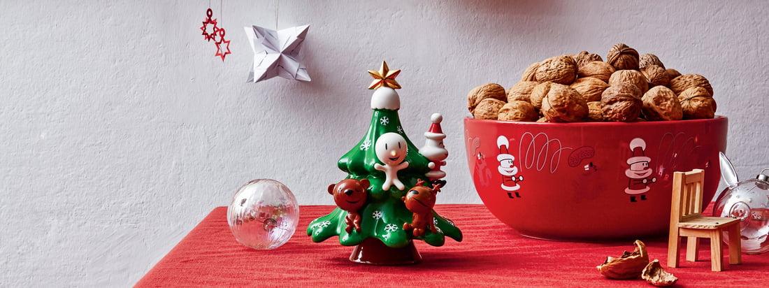 Die Weihnachtsfiguren von A di Alessi verbreiten weihnachtliche Stimmung und bringen der modernen Welt die klassischen Porzellan- und Weihnachtsfiguren näher.