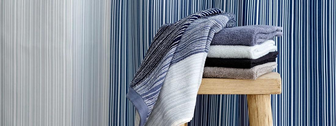 Södahl - Gradient Duschvorhang und Handtuch, blau
