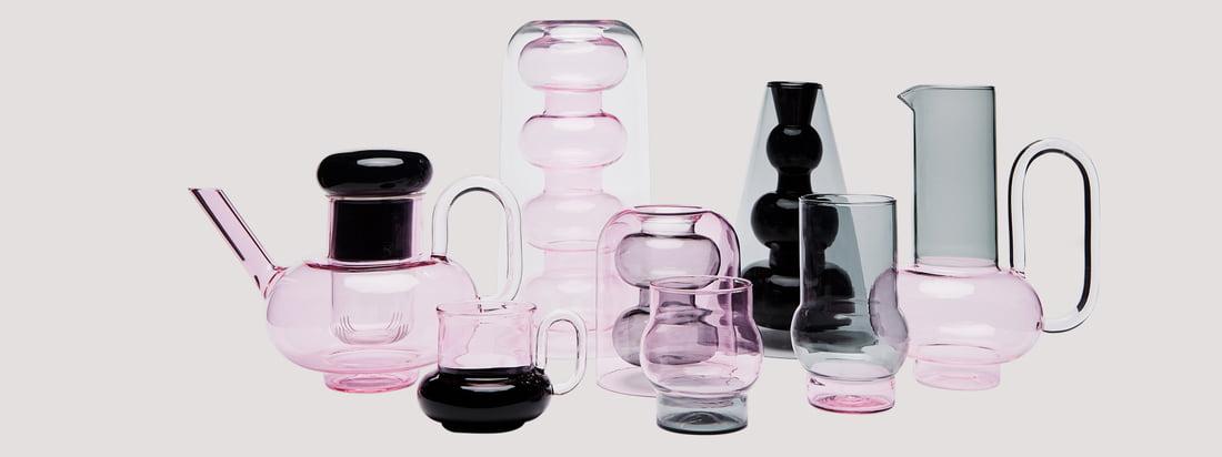 Die Bump Kollektion von Tom Dixon steht für edle Trinkgefäße, die von Form und Material an den Look von Laborgeräten erinnern- Designexperiment gelungen!