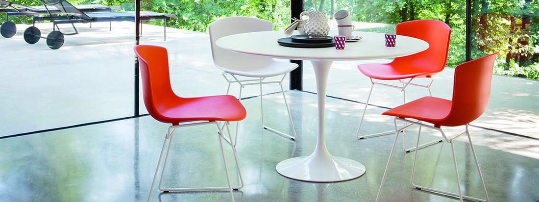 Knoll - Bertoia Kunststoff-Stuhl - Banner