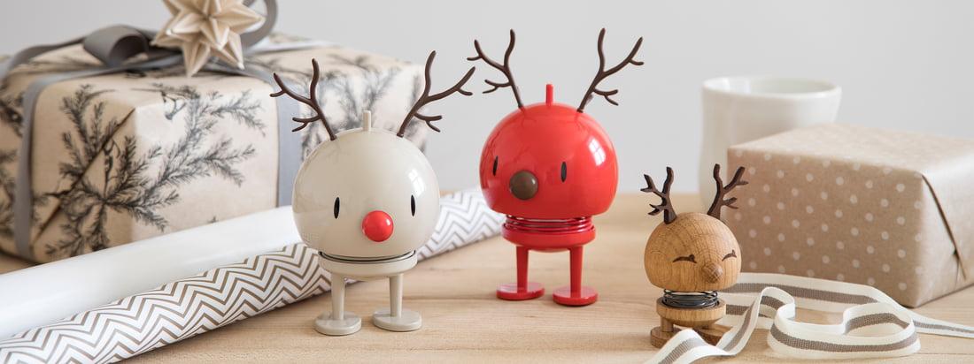 Die liebevoll gestalteten Weihnachtsfiguren von Hoptimist sind in den verschiedensten Versionen verfügbar - sei es als Schneemann, Santa, als Rentier, oder mehr.
