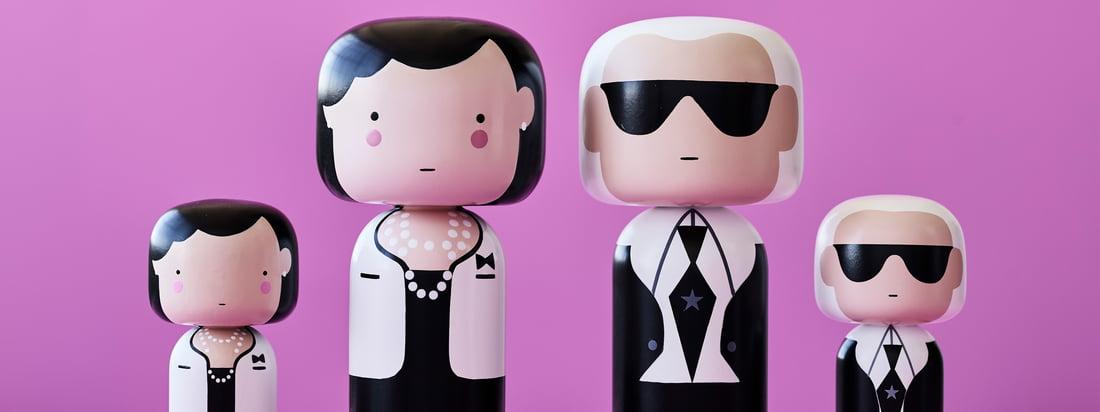 Ob Coco Chanel oder Karl Lagerfeld - die Sketch Inc. Figuren von Lucie Kaas sind in mehreren Ausführungen und Größen erhältlich und alle aufwendig handbemalt.