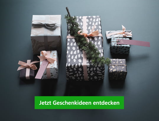 Banner - Geschenkideen: Weihnachten wahre Freude schenken - Lehnen Sie sich zurück und lassen Sie sich von unseren Connox Geschenkideen zu Weihnachten inspirieren.
