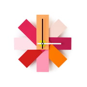 Normann Copenhagen - Watch me Wanduhr Multicolour