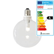 NUD Collection - Dimmbare LED mit klarem Glasschirm