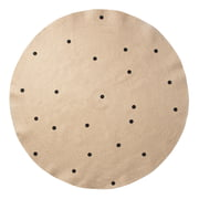 ferm Living - Jute Teppich Black Dots