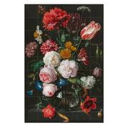 IXXI - Blumenstillleben in einer Glasvase (De Heem)