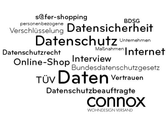 Datenschutz und Datensicherheit bei Connox. Die Connox Datenschutz Cloud zeigt wie es in Sachen Datenschutz und Datensicherheit bei der Connox GmbH aussieht.