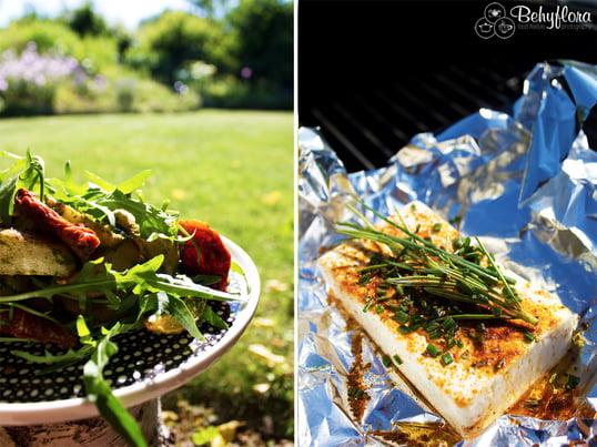 Bloggerin Claudia von Behyflora verrät uns ihre leckeren Sommerrezeptideen für die Grillparty im Grünen: mediterraner Backkartoffelsalat mit homemade Pesto. Lecker!