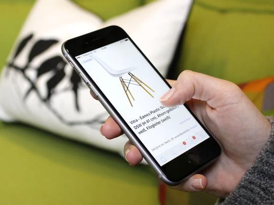 Die weltweit besten Designs auf dem eigenen Smartphone: Stöbern Sie mobil in tausenden von Designprodukten, bestellen Sie bequem und sicher via App. Nie war Möbelkaufen so einfach!
