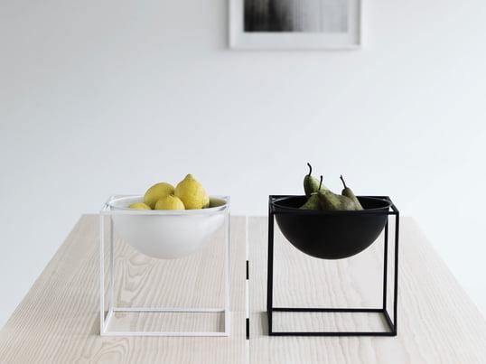 """Die Obstschale """"Kubus Bowl"""" von by lassen ist eine Highlight-Dekoration für Wohnzimmer und Küche. Die Obstschalen gibt es in weiß, schwarz, gold und zahlreichen anderen Farben."""