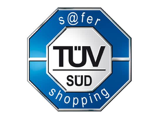 Geprüfte Sicherheit:  das s@fer-shopping Siegel vom TÜV SÜD für den Connox Online Shop. Der TÜV SÜD ist die stärkste und anerkannteste Prüfungsorganisation in Deutschland.