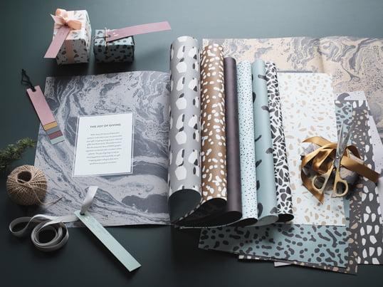 ferm Living: Geschenkanhänger / Geschenkpapier