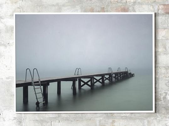 """Die Fotoarbeit """"Copenhagen Swim 02"""" der Fotografin Rikke Haas Christensen zeigt eines der unzähligen Winterbäder, die die Hauptstadt Dänemarks mit dem Ozean verbindet."""