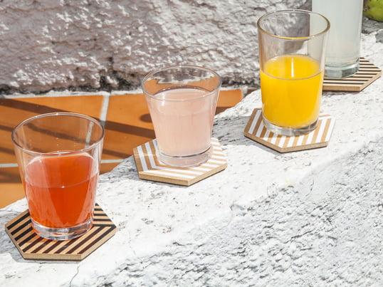 Moderne Glasuntersetzer von Areaware in 3D-Optik. Design-Untersetzer für Gläser und Tassen - genießen Sie Ihre Drinks ohne an Verschmutzungen und Kratzer denken zu müssen.