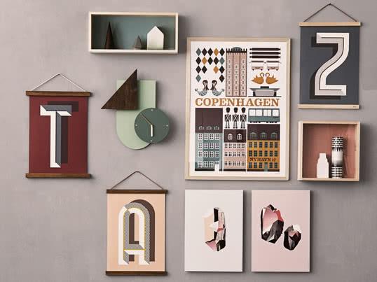 Die Wooden Frames Von Ferm Living Geben Kleinen Portraits, Großen Fotos,  Kalendern Oder Postern
