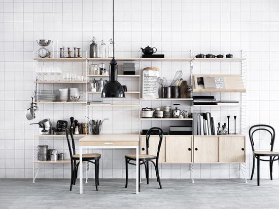 String Regal System Für Die Küche In Weiß Und Holz