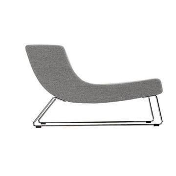 Der graue Fatback Sessel von der Seite