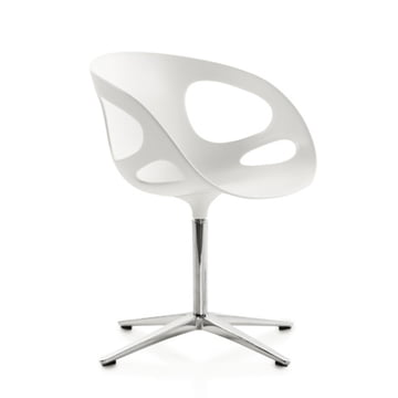 Rin Chair weiss, Gestell chrom