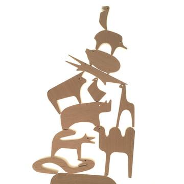"""Das """"Sedici Animali"""" Holzpuzzle von Milano Danese kreativ gestapelt"""