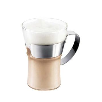 Bodum Assam Kaffeeglas mit Edelstahlgriff (2er-Set)