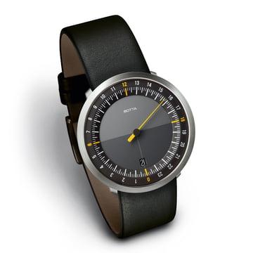 Botta-Design Uno24 - schwarz / Lederarmband