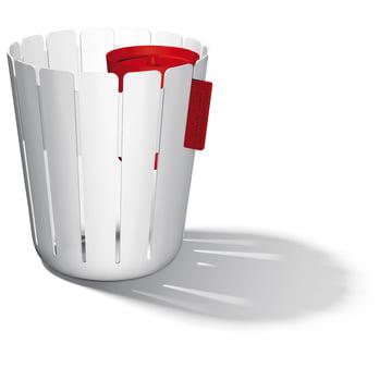 SL17 Basketbin Mülleimer-System - weiß / rot