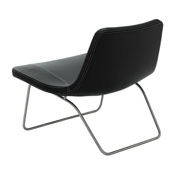 Hay Ray Lounge Chair - Leder schwarz