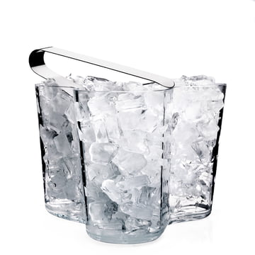 Alvar Aalto Vase klar mit Eiswürfel