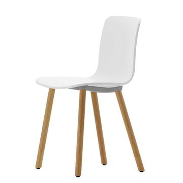 Hal Wood Stuhl von Vitra in Weiß / Eiche hell / Filzgleiter