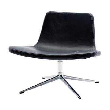 Hay - Ray Lounge Chair, Drehgestell, Leder