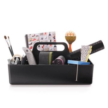 Vitra - Storage Toolbox basic dark, mit Arbeitsmaterialien