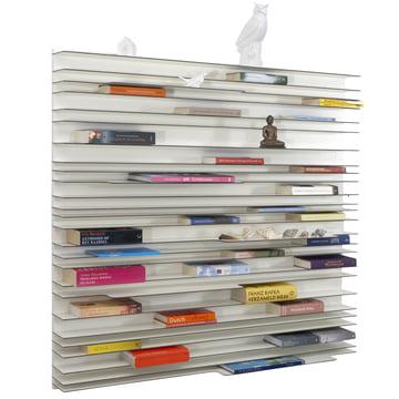 spectrum - Paperback Regalsystem aus weiß lackierten MDF-Platten