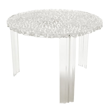 Kartell - T-Table, H 36 cm, glasklar