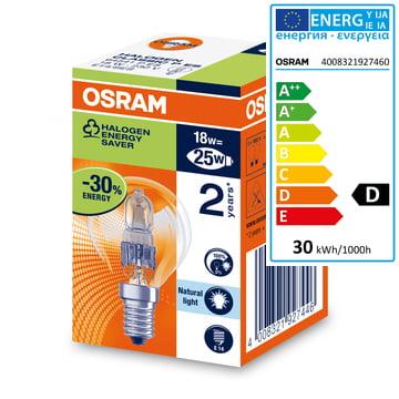 Osram Tropfen Halogen-Lampe Classic P Eco - E14